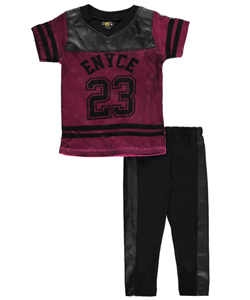 "Enyce Big Girls' ""Faux Leather & Mesh"" 2-Piece Outfit (Sizes 7 – 16) - CookiesKids.com"