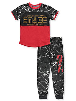 Boys' 2-Piece Pants Set Outfit by Enyce in Red, Boys Fashion