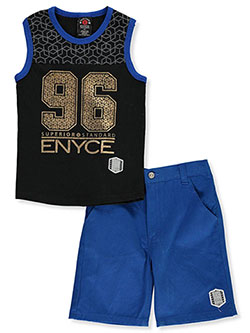 Boys' 2-Piece Shorts Set Outfit by Enyce in Blue multi