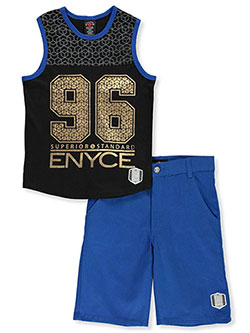 Boys' 2-Piece Shorts Set Outfit by Enyce in Blue/black