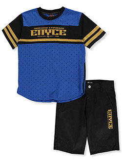 Boys' 2-Piece Shorts Set Outfit by Enyce in Blue black multi