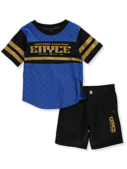 Baby Boys' 2-Piece Shorts Set Outfit by Enyce in Black/blue - Short Sets