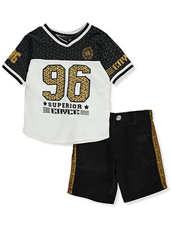 Superior 2-Piece Shorts Set Outfit by Enyce in Black - Short Sets