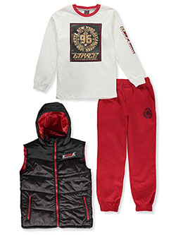 Boys' 96 Vest 3-Piece Joggers Set Outfit by Enyce in Multi, Sizes 8-20