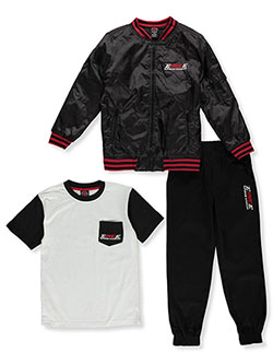 Boys' Logo Pocket 3-Piece Joggers Set Outfit by Enyce in Multi