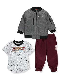 Drip Dots 3-Piece Joggers Set Outfit by Enyce in Multi, Infants