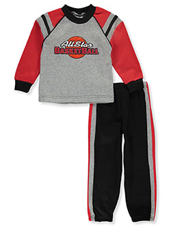 Boys' All Star 2-Piece Sweatsuit Outfit by Mac Henry in Multi