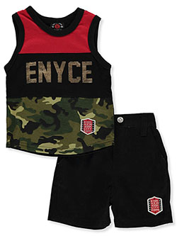 Camo Trim 2-Piece Shorts Set Outfit by Enyce in Multi