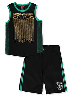 Boys' Dazzle Trim 2-Piece Shorts Set Outfit by Enyce in Multi