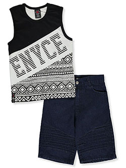 Boys' 2-Piece Shorts Set Outfit by Enyce in Multi