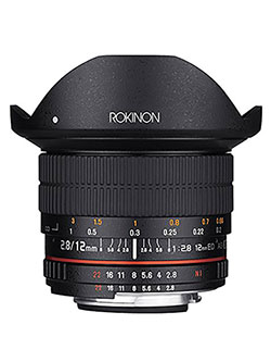 12mm F2.8 Ultra Wide Fisheye Lens for Nikon AE DSLR Cameras by Rokinon