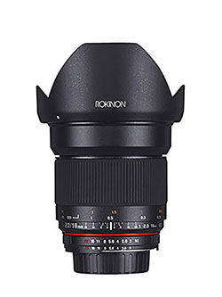16MAF-N 16mm f/2.0 Aspherical Wide Angle Lens for Nikon by Rokinon
