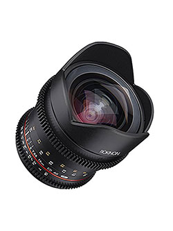 16mm T/2.6 Full Frame Cine Wide Angle Lens for Micro Four Thirds MFT, Black by Rokinon