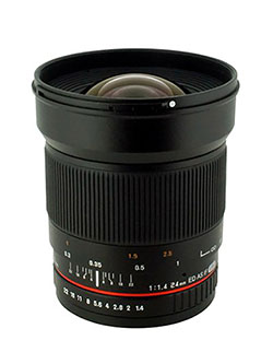 24mm F/1.4 Aspherical Wide Angle Lens for Nikon with Automatic AE Chip for Auto Aperture, Au by Rokinon