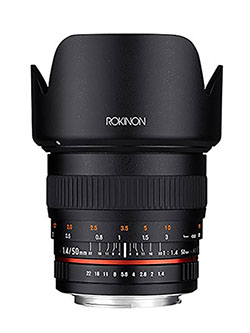 50mm F1.4 Lens for Sony E Mount by Rokinon