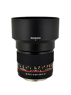 85MAF-N 85mm F1.4 Aspherical Lens for Nikon with Automatic Chip by Rokinon