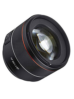 85mm F1.4 AF Lens for Canon EF Mount, Black by Rokinon