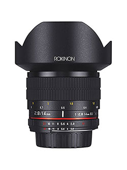 AE14M-C 14mm f/2.8-22 Ultra Wide Angle Lens with Built-In AE Chip for Canon EF Digital SLR by Rokinon