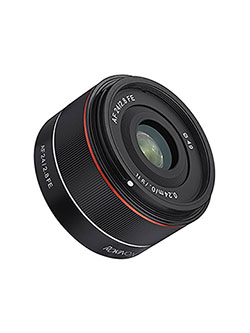 AF 24mm f/2.8 Wide Angle Auto Focus Lens for Sony E-Mount, Black by Rokinon