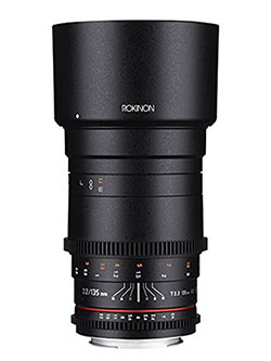 Cine DS 135mm T2.2 ED UMC Telephoto Cine Lens for Nikon Digital SLR Cameras by Rokinon