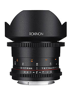 Cine DS DS14M-C 14mm T3.1 ED AS IF UMC Full Frame Cine Wide Angle Lens for Canon EF by Rokinon