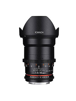 Cine DS DS35M-MFT 35mm T1.5 AS IF UMC Full Frame Cine Wide Angle Lens for Olympus and Panaso by Rokinon
