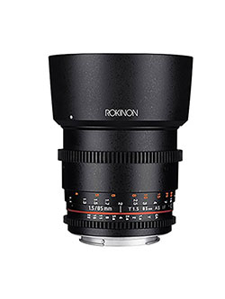 Cine DS DS85M-C 85mm T1.5 AS IF UMC Full Frame Cine Lens for Canon EF by Rokinon