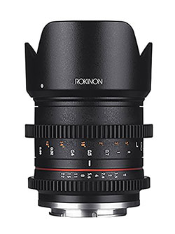 CV21M-E 21mm T1.5 Compact High Speed Wide Angle Cine Lens for Sony E-Mount, Black by Rokinon