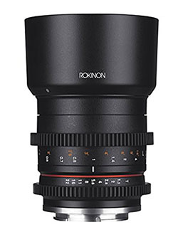 CV50M-E 50mm T1.3 Compact High Speed Cine Lens for Sony E-Mount, Black by Rokinon