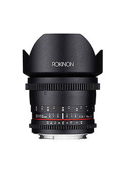 DS10M-C 10mm T3.1 Cine Wide Angle Lens for Canon EF-S Digital SLR by Rokinon