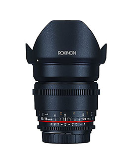 DS16M-N 16mm T2.2 Cine Wide Angle Lens for Nikon Digital SLR by Rokinon