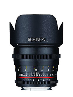 DS50M-NEX Cine DS 50 mm T1.5 AS IF UMC Full Frame Cine Wide Angle Lens for Sony E-Mount Came by Rokinon