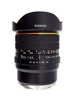 FE8M-NEX 8mm f/3.5 Fisheye Lens for Sony E-Mount Cameras by Rokinon
