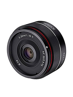 IO35AF-E 35mm f/2.8 Ultra Compact Wide Angle Lens for Sony E Mount Full Frame, Black by Rokinon, Toys