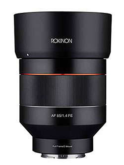 ROKINON IO85AF-E 85mm F1.4 Auto Focus Weather Sealed Lens for Sony E-Mount by Rokinon, Toys