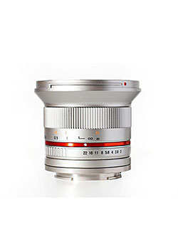 RK12M-FX-SIL 12mm F2.0 Ultra Wide Angle Lens for Fujifilm X-Mount Cameras by Rokinon