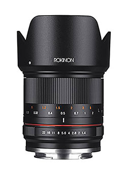 RK21M-E 21mm F1.4 ED AS UMC High Speed Wide Angle Lens for Sony by Rokinon