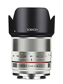 RK21M-E-SIL 21mm F1.4 ED AS UMC High Speed Wide Angle Lens for Sony by Rokinon