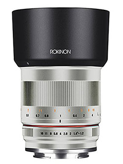RK50M-FX-SIL 50mm F1.2 AS UMC High Speed Lens for Fuji by Rokinon