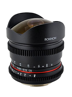 RK8MV-NEX 8mm t/3.8 Cine Fisheye Lens for Sony E-mount by Rokinon