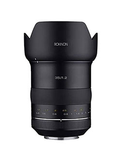 ROKINON Special Performance 35mm F1.2 High Speed Wide Angle Lens for Canon EF by Rokinon