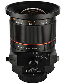 TSL24M-C 24mm f/3.5 Tilt Shift Fixed Lens for Canon by Rokinon