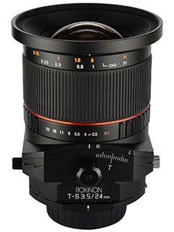 TSL24M-N 24mm f/3.5 Tilt Shift Lens for Nikon by Rokinon