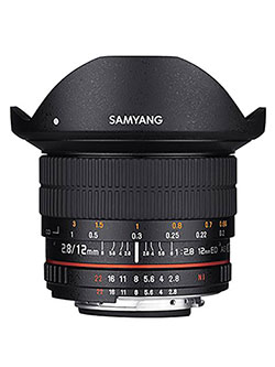 12mm F2.8 Ultra Wide Fisheye Lens for Nikon DSLR Cameras by Samyang