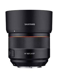 85mm F1.4 Auto Focus Full Frame Weather Sealed High Speed Telephoto Lens for Nikon F Mount by Samyang