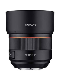 85mm F1.4 High Speed Auto Focus Lens for Canon EF Mount, Black by Samyang