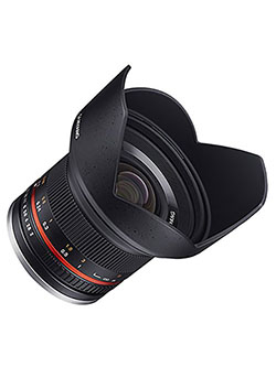SY12M-FX-BK 12mm F2.0 Ultra Wide Angle Lens for Fujifilm X-Mount Cameras, Black by Samyang