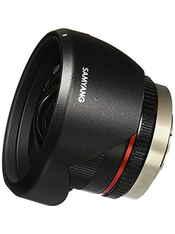 SY12M-MFT-BK 12mm F2.0 Ultra Wide Angle Fixed Lens for Olympus/Panasonic Micro 4/3 Cameras, by Samyang