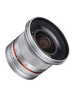SY12M-MFT-SIL 12mm F2.0 Ultra Wide Angle Lens for Olympus/Panasonic Micro 4/3 Cameras, Silve by Samyang