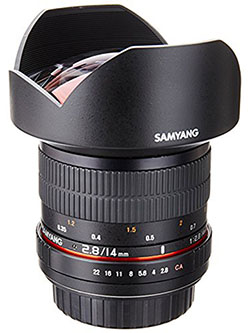 SY14M-C 14mm F2.8 Ultra Wide Fixed Angle Lens for Canon by Samyang